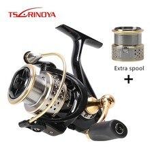TSURINOYA Fashion Saltwater Fishing Reel 2000 Model Speed Ratio 5.2:1 Deep Shallow Double Metal Spool Carp Spinning Reel