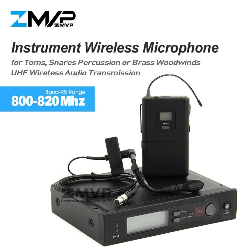 ZMVP SLX14 BETA98 UHF Professionnel SLX24 Système de Microphone Sans Fil Avec Émetteur de poche Col De Cygne Mic Pour En Laiton Bois
