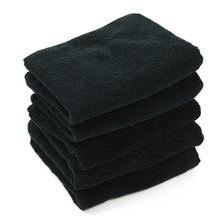 5 Pcs lot New Simple Solid Black Face Towels 100 Cotton Hand Towel High Quality Luxury Hotel Bath Towel For Adults 34*70cm cheap XC USHIO CN(Origin) Towel Set Plain Woven Other 120g piece XC-Facetowal-0627001 Machine Washable 5s-10s Plain Dyed 34*70 cm (13 78*27 56 Inch)