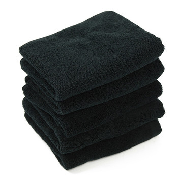 5 Pcs/lot New Simple Solid Black Face Towels 100% Cotton Hand Towel High Quality Luxury Hotel Bath For Adults 34*70cm