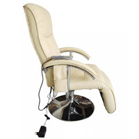 Electric Massage Chair Artificial Leather CREAM Feel Relaxed And Invigorated Has 10 Massage Knots On The Head, Neck, Back, Calf