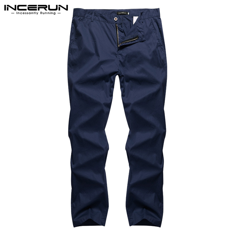 outlet store limited sale coupon code US $19.45 41% OFF|High Quality Formal Dressing Pants Straight Pant Solid  Men Chinos Casual Trousers Track Joggers Slim Fit Pencil Pantalon Hombre-in  ...