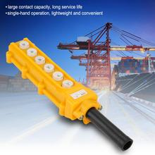 up down pushbutton crane hoist switch rainproof cob 63a 6-channel Push Button Switch Lifting Pendant  Control Switch Rainproof Controller Hoist Switch Crane Chain Hoist Control