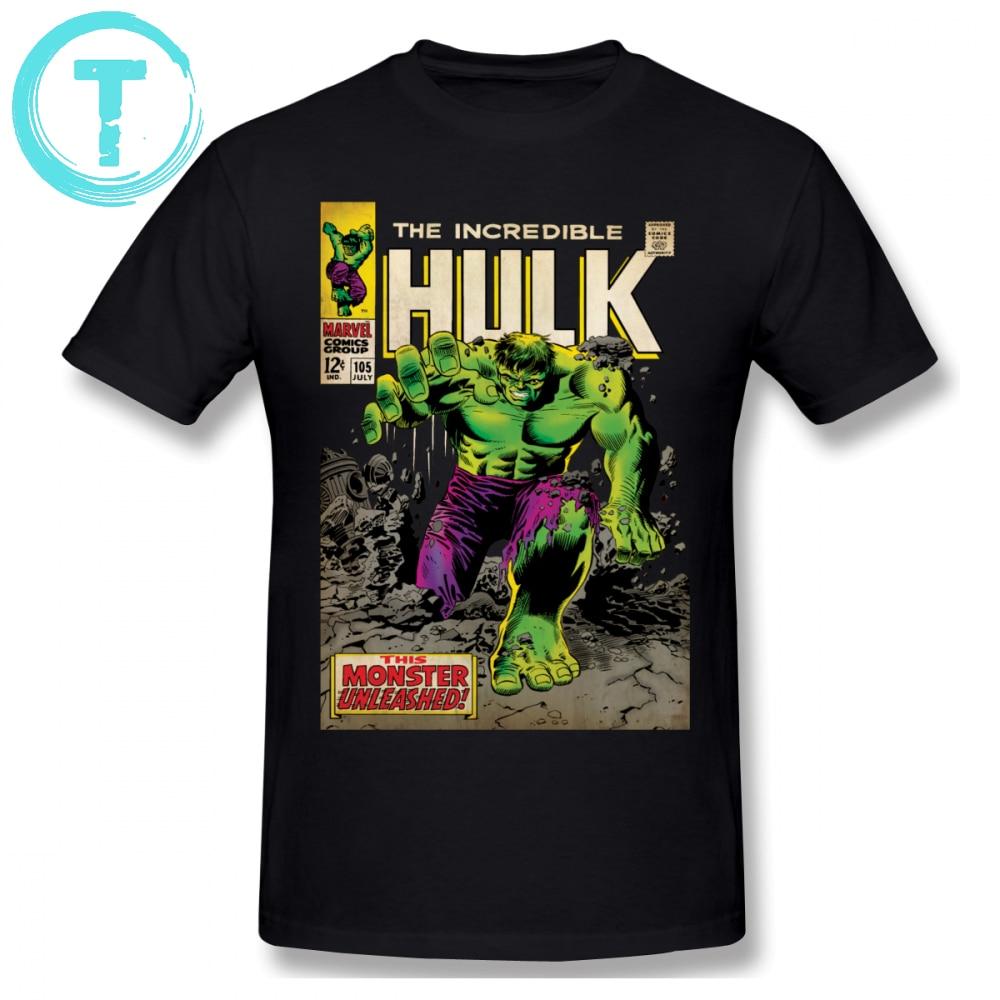 Hulk T Shirt The Incredible Hulk Comic T-Shirt Awesome Basic Tee Shirt 100 Percent Cotton Print XXX Man Short Sleeve Tshirt