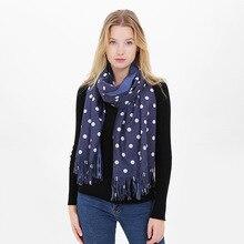 Fashion Luxury Brand Women Scarf Winter Thick Warm Soft Scarves Tassel Dots Imitation Cashmere Shawl For Ladies Size 190*65cm