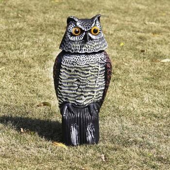 Odkryty polowanie plastikowe fałszywe sowa wrona wabiki ogród jardów ozdoby strach na wróble odstraszacz odstraszający odstraszacz ogród ptak strach na wróble tanie i dobre opinie Prowler Owl 13291 Z tworzywa sztucznego Zwierząt owl crow 16*15*38 5cm