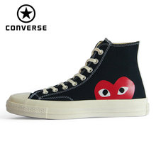 Converse Man 1970s X CDG Play Skateboarding Shoes Chuck 70 All Star Woman Sneakers Classic # 150204C