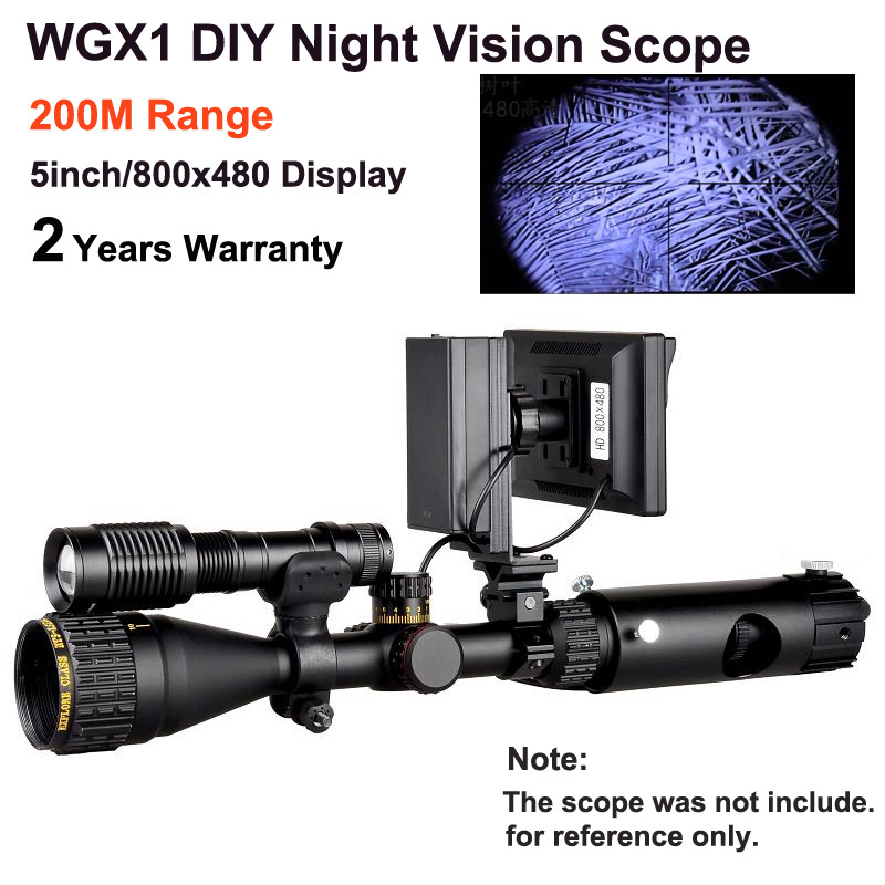 WGX1 200M Range Infared Night Vision Riflescope with 5inch display as Night Vision Scope Sight as