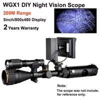 WGX1 200 м Диапазон Infared прицел ночного видения с 5 дюймов дисплей как ночного видения прицел как ночной охотничий продукт