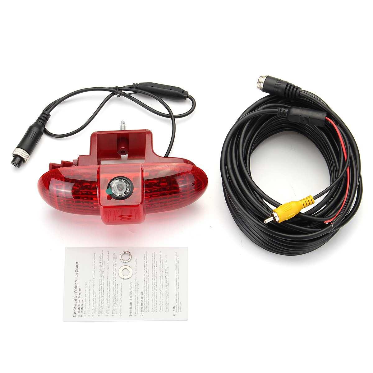 PAL автомобильный тормозной светодиодный светильник, лампа заднего вида, парковочная камера ночного видения, водонепроницаемая камера для Renault trafc 2001 2014