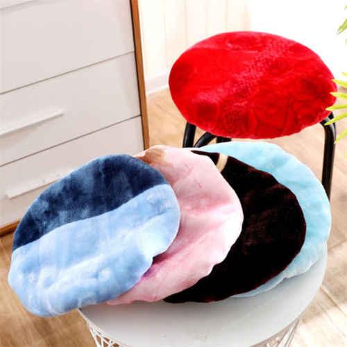 Chique Cobertura Fezes Rodada Tampa Da Cadeira Cor Pura Prático Home Decor Fácil de Limpar