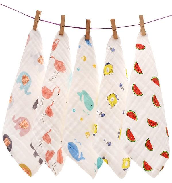 25*25 cm Baberos de algodón suave para bebés Toalla de Saliva para Recién Nacido Bandana babero Burp paño para el cuidado del bebé bufanda niño invierno bufanda