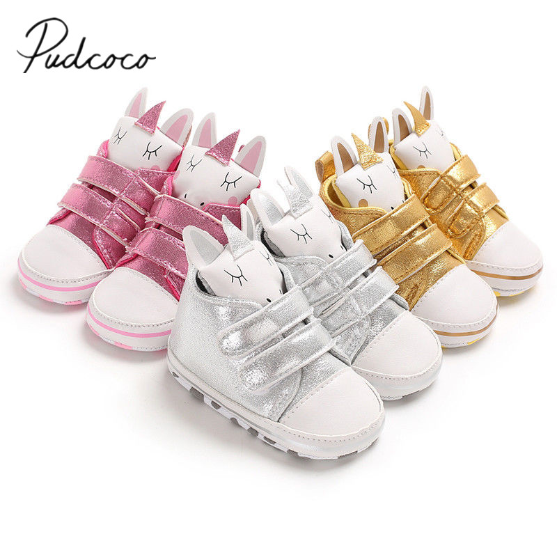 2019 Baby Girl Newborn Infant Cartoon Floral Casual Prewalker Waterproof Shoes 9