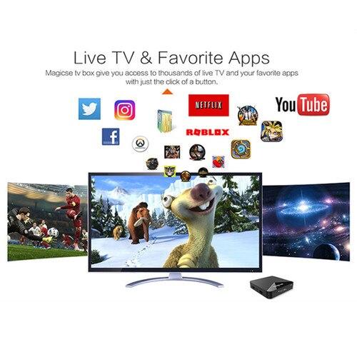 MAGICSEE N5 Smart TV Box Android 7.1.2 Amlogic S905X Mali 450 2GB 16GB Set Top Box 2.4G Wifi 4K H.265 Bluetooth 4.1 Media Player Islamabad