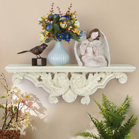 Resin European Style Wall Mounted Home Decor Living Room Storage Rack 3D Holder Decorative shelves White/Beige/Champagne