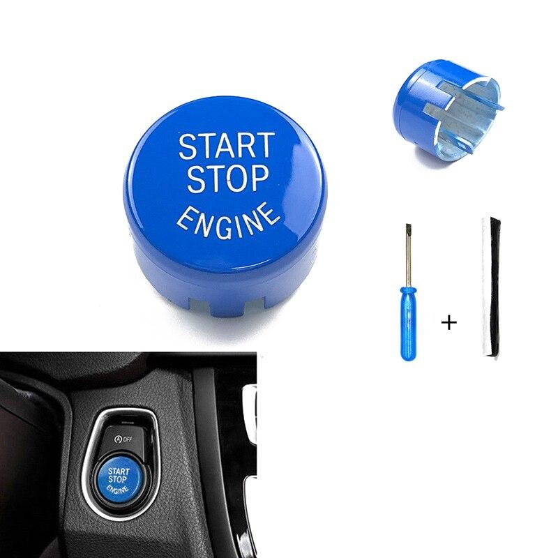 Переключатель крышки кнопки двигателя для BMW F20 F30 F10 F01 F25 F26 F15 F16, синий цвет, распродажа, крышка кнопки запуска двигателя автомобиля с аксессуарами