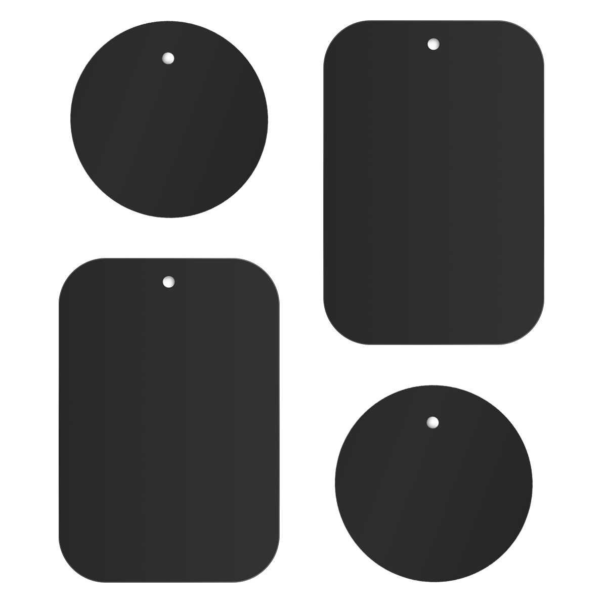 4 Pcs Logam Pelat Magnetik Bahan Putaran Rectangular Kuat Perekat Tablet dan Ponsel Car Mount Holder Cradle