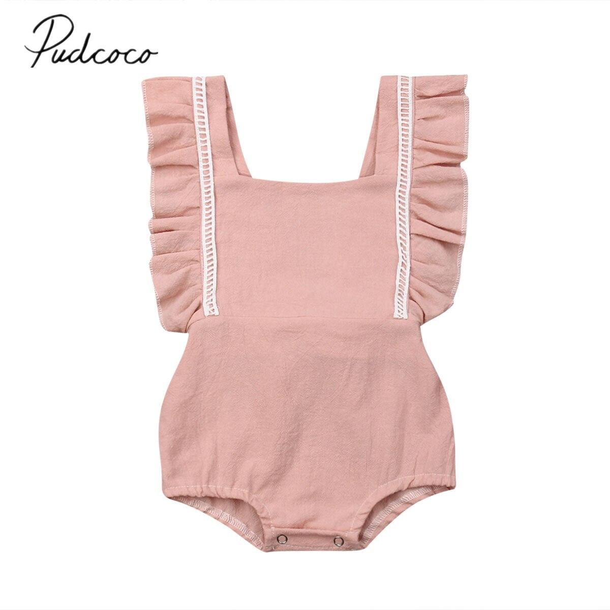 Girls' Baby Clothing 0-2t Cute Infant Kids Baby Girls Bodysuit Sunflower Swimwear Sling Bathing Jumpsuit Summer Beach Baby Clothes