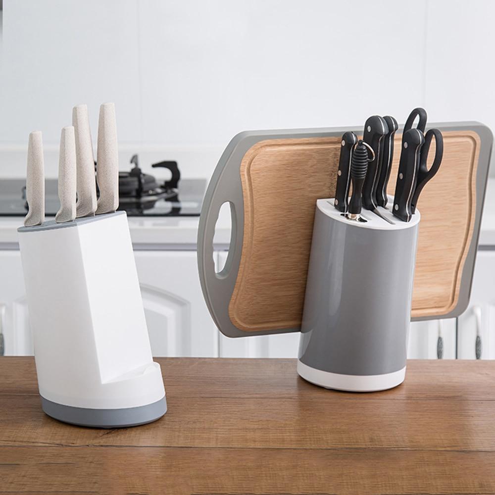 Multifunctional Storage Rack Tool Holder Kitchen Accessories Creative Plastic Kitchen Knife Block Support Wholesale