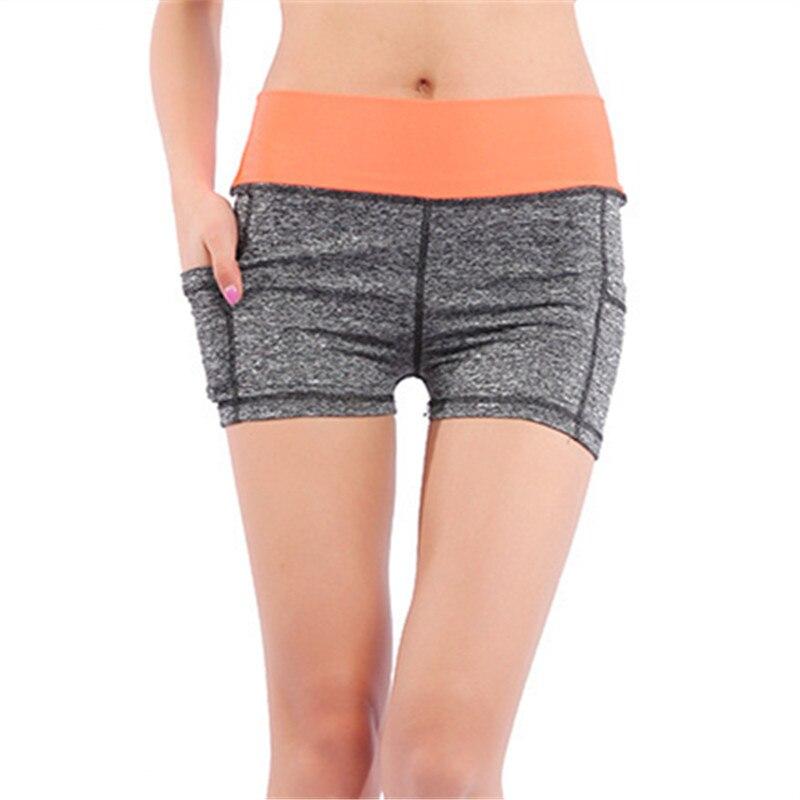 53409528f4 Jielur del todo-fósforo 4 Color sólido fajas Casual mujeres pantalones  cortos línea Slim de