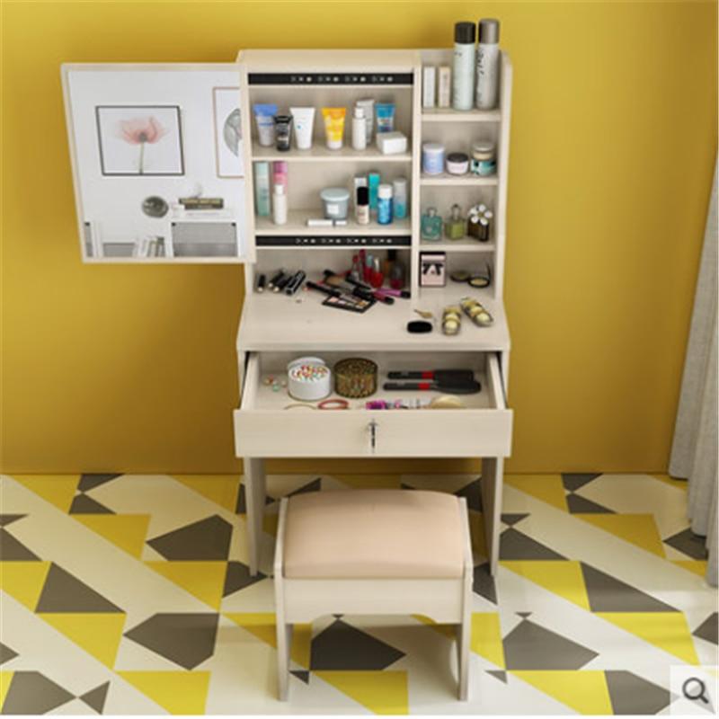 Ensemble Coiffeuse Mueble dortoir armoire vanité Mesa De Maquillaje Table en bois chambre meubles Quarto coréen Penteadeira