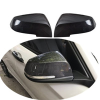 Pair of rearview mirror carbon fiber look rearview mirror cover cap for BMW 1 2 3 4 x3  series 2012-2016