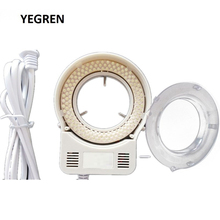 Adjustable White LED Ring Lamp 144 LED Highlight Light Source for Industrial Camera Stereo Microscope Inner Diameter 63 mm