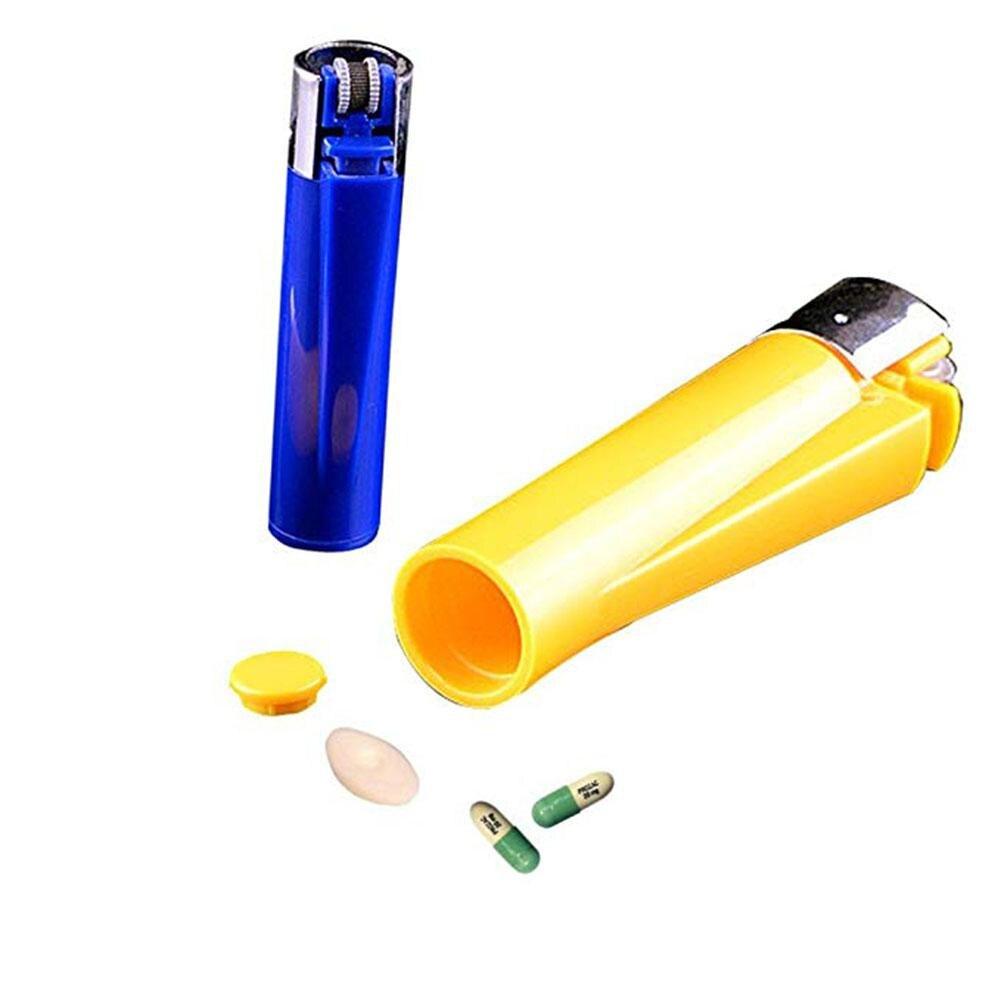 Adeeing мини зажигалка-форма секретная коробка для хранения Скрытая емкость для лекарств канистра