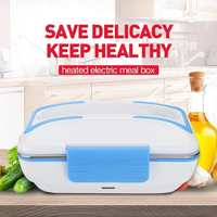 Electric Heating Lunch Box Portable Car Truck Food Warm Heater Stainless Steel DC 12V 45W 1.2L Container Storage For Kids Adults