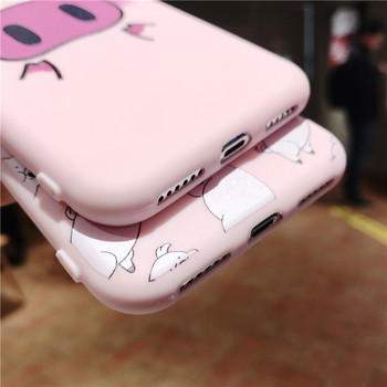 Cute Pig Phone Case For iPhone Couples Cartoon Soft TPU Silicone Back Cover 4
