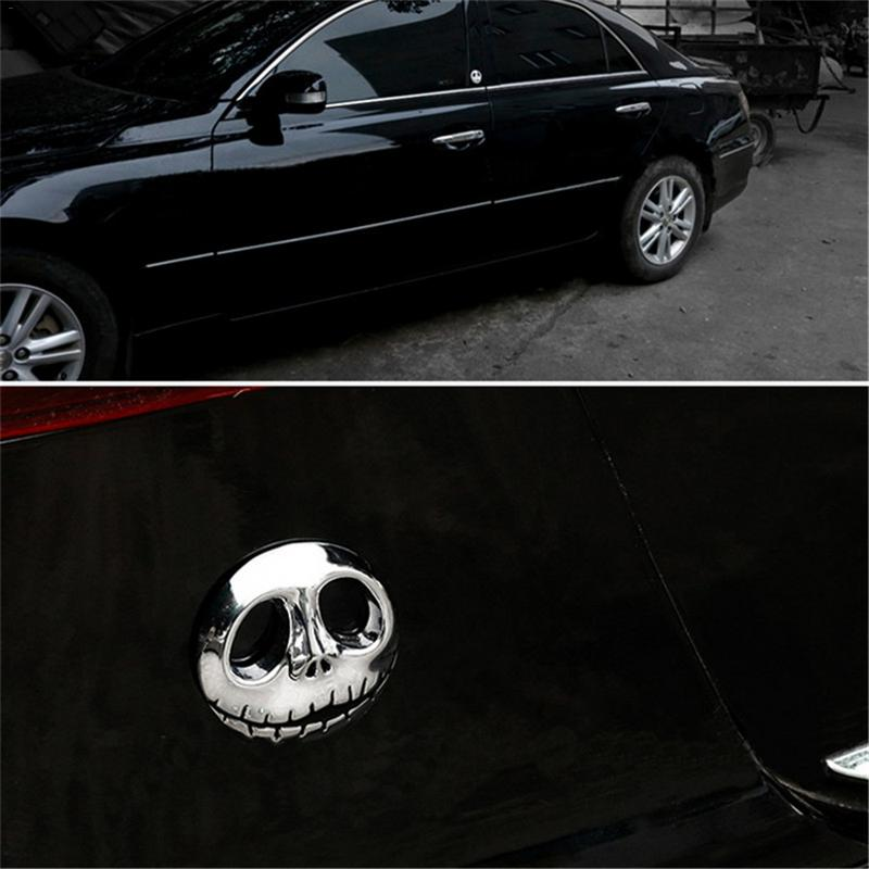 Halloween Skeleton Patterns Metal Car Stickers Durable Pumpkin King Style Car Stickers Motorbike Accessories Fast Delivery in Car Stickers from Automobiles Motorcycles