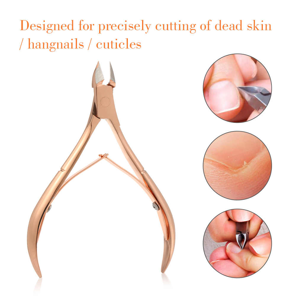 Professional Cuticle Remover Cutter Nail Clipper Nippers for Dead Skin Removal Stainless Steel Cuticle Scissors Nail Tools