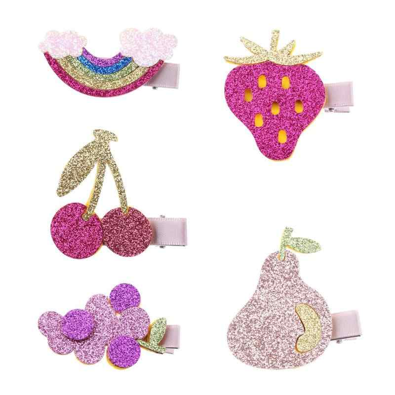 Girls Hairpin Flower Chiffon Lace Kids Hairpins Hair Clips Princess Party Barrettes Girls Sequins Headband Baby Hair Accessories