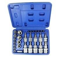 29 pieces of chrome vanadium steel sleeve set Press batch sleeve head Machine repair auto repair Household tool set