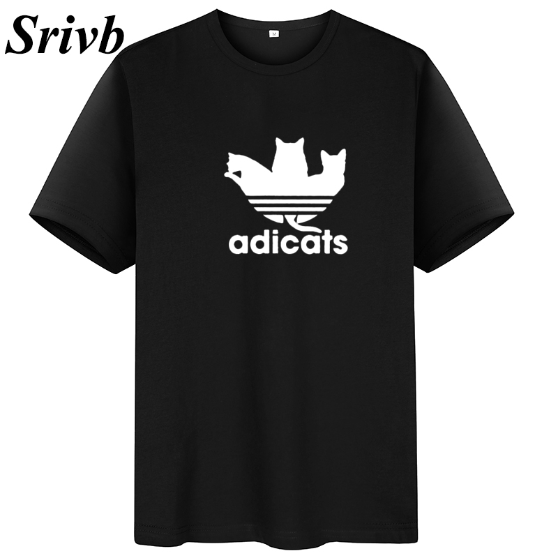 Srivb Adicats 2019 Summer Women Tshirt Tops Camiseta Mujer Plus Size Cotton Tee Shirt Femme Funny Kawaii Print T-shirt Women