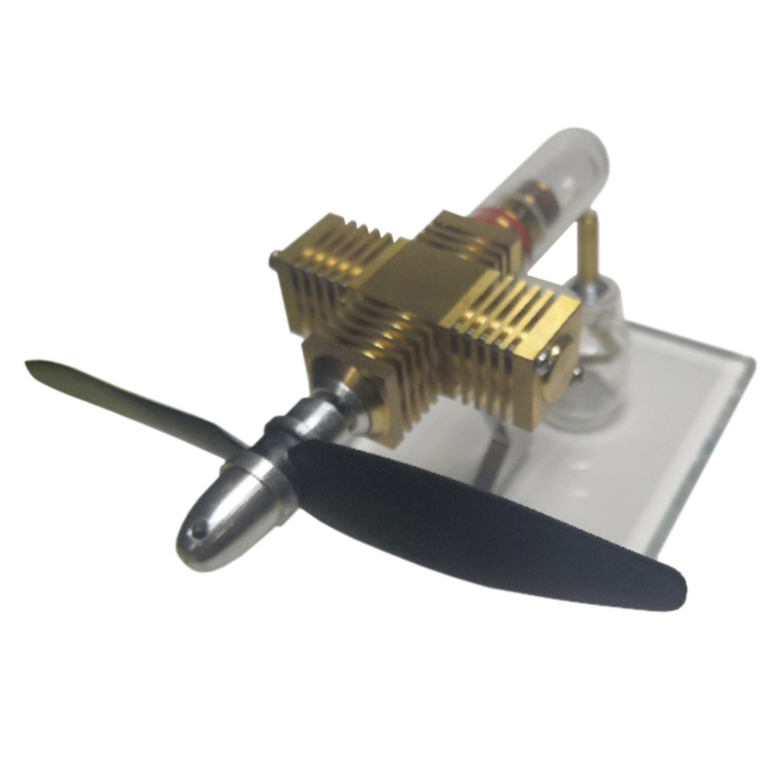 Propeller Aircraft Head Shape Stirling Pocket Engine Model Toy for Developing Intelligence Model Buiding