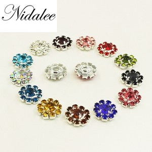 Nidalee 12mm Round Shank Rhinestone Embellishments Diy Shoe Decoration Buttons For Handmade Metal Buckles Clothing 10pcs