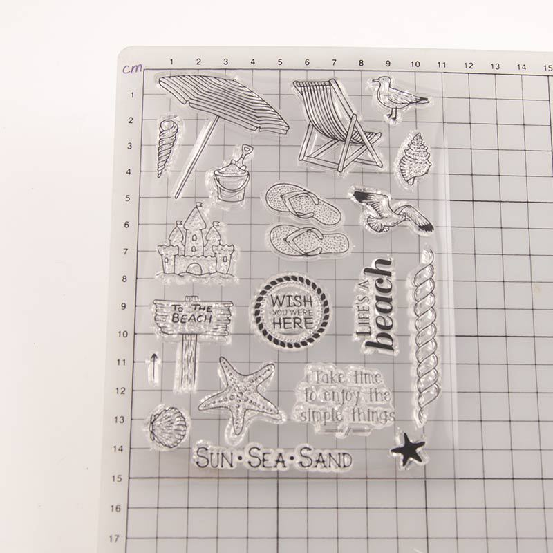 Beach WYSE Clear Stamp Sea Star Beach Stamps for Scrapbooking Paper Card Making