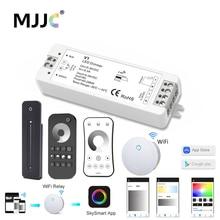 цена на LED Dimmer 12V 24V PWM Wireless Dimmer Switch 5V 36V LED Strip Dimmer 12 Volt RF 2.4G Remote Control for Single Color Lighting