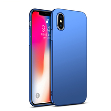 все цены на NEW Case for Apple iPhone XS MAX iPhone 8 Plus Cover Phone Shell High Quality PC Hard Matte Carcasas XR X 6 6S 7 Plus Capa Coque