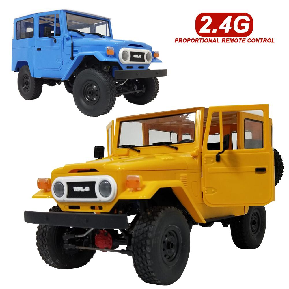 WPL New RC Car C34 Off-Road Remote Control Car Toys RTR KIT Off-road Remote Control Car Cool Yellow Blue For Cross-climb RTR KITWPL New RC Car C34 Off-Road Remote Control Car Toys RTR KIT Off-road Remote Control Car Cool Yellow Blue For Cross-climb RTR KIT