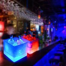 Светодиодный ведро для льда, шампанского, вина, напитков, охладитель льда для пива, для ресторанов, баров, ночных клубов, KTV, пабов, вечерние, 3.5л, светящиеся