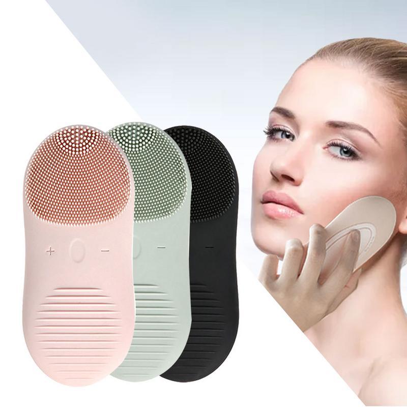 Brosse nettoyante électrique pour le visage IPX7 étanche 12 vitesses nettoyeur de pores électrique Anti-âge Instrument de nettoyage du visage chargement USB