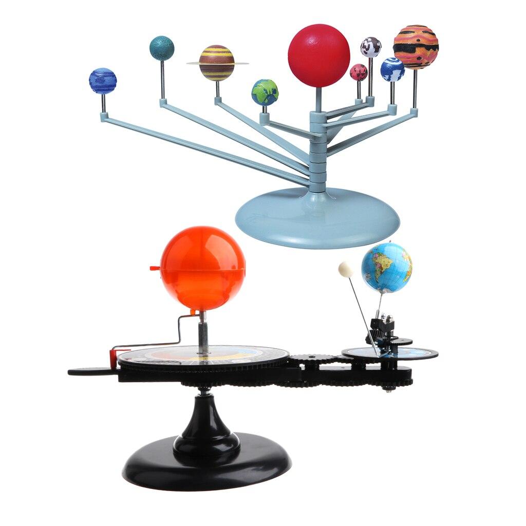 Sun Earth Moon modèle Orbital + système solaire planétarium modèle Science bricolage projet cadeau d'anniversaire pour enfants enfants étudiant - 6