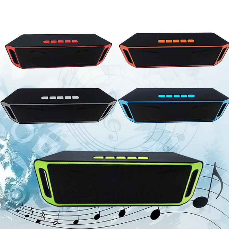 Image 2 - SC208 Wireless Bluetooth Speaker Mobile Phone Hands free Subwoofer TF Card Double Loudspeaker Portable Outdoor Car Audio-in Portable Speakers from Consumer Electronics