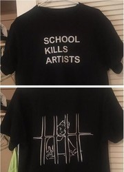 School Kills Artists Double Print Aesthetics Graphic Tee Unisex Youth Street Style Cool T-Shirt Grunge Fashion tumblr Tops-J998