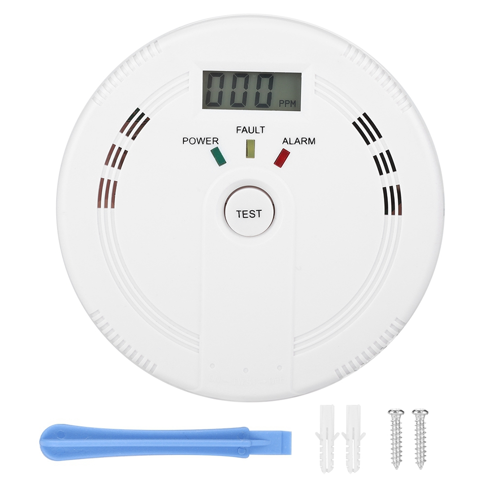Lcd Display Co Gas Leakage Sensor Carbon Monoxide Smoke Warning Detector Alarm 2019 Fire Protection