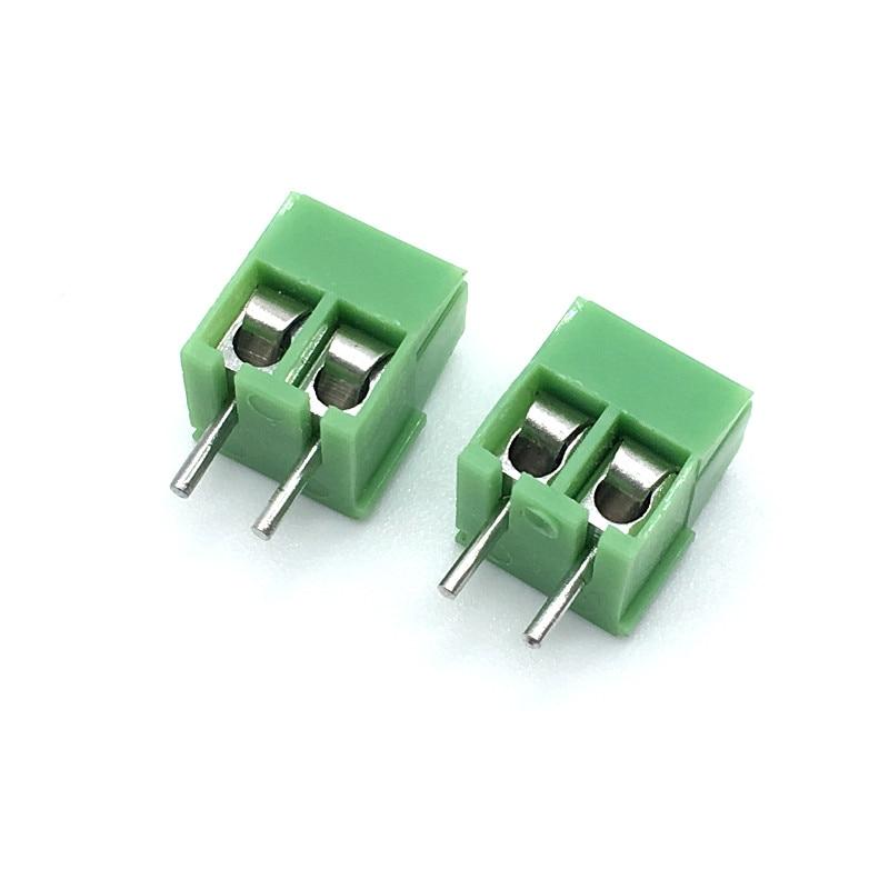 Wholesale 500pcs lot KF350 3 5 2P Terminal 300V 10A Screw 2Pin 3 5mm Straight Pin