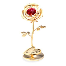 2019 Creative Gift Diamonds Roses Beautiful Golden Rose Ornament Desk For ValentineS Day