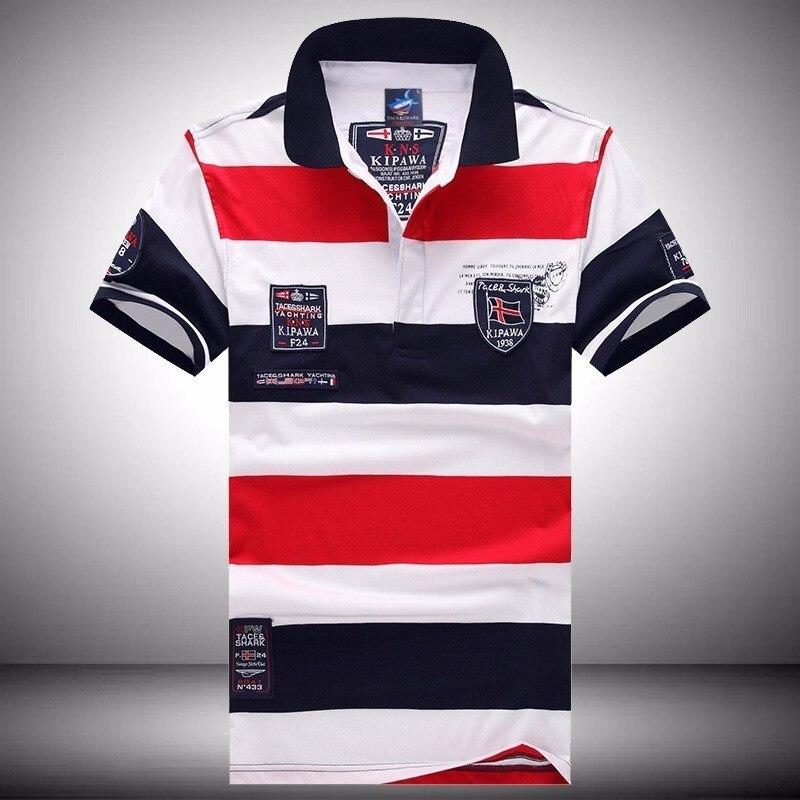 268299278e Homens Verão Marca Eden Tubarão Curto Polos Famosa Camisa Masculina Mens  Casual Sportswear Respirável Park Camisas